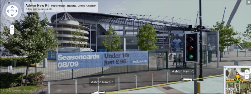 The City of Manchester Stadium - Google Maps Street View