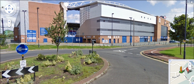 The JJB Stadium - Google Maps Street View