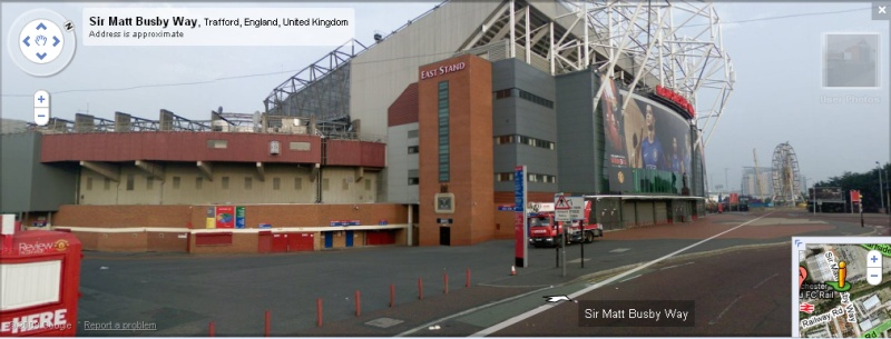 Old Trafford - Google Maps Street View