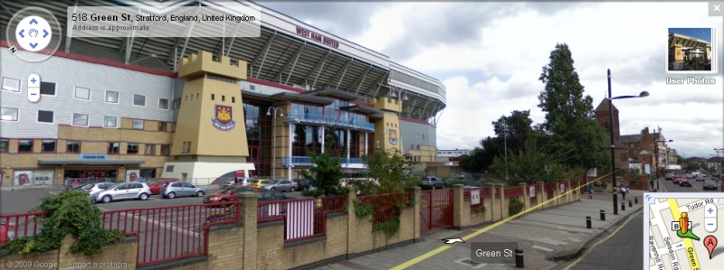 Boleyn Ground - Google Maps Street View