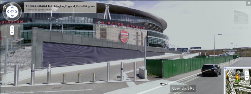 The Emirates Stadium - Google Maps Street View